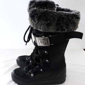 DC windham Womens winter snow Black boots  size 8L